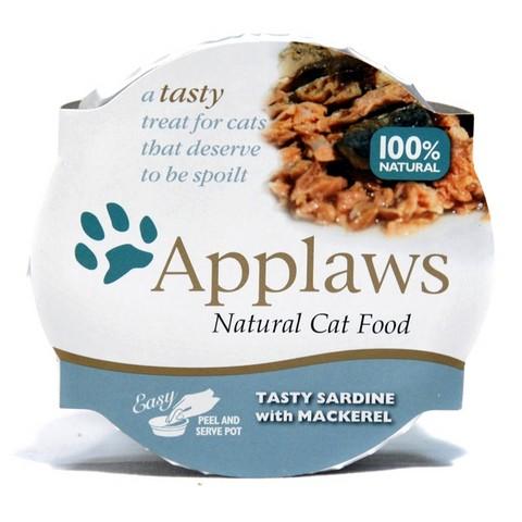 Applaws miska pro kočky SARDINKY A MAKRELY 60 g