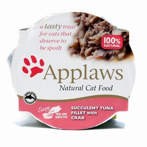 Applaws miska pro kočky TUŇÁK A KRAB 60 g
