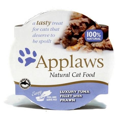 Applaws miska pro kočky TUŇÁK A KREVETY 60 g