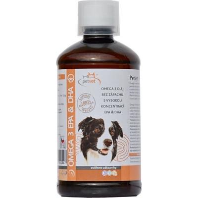 PetVet® OMEGA rybí olej EPA&DHA 500 ml